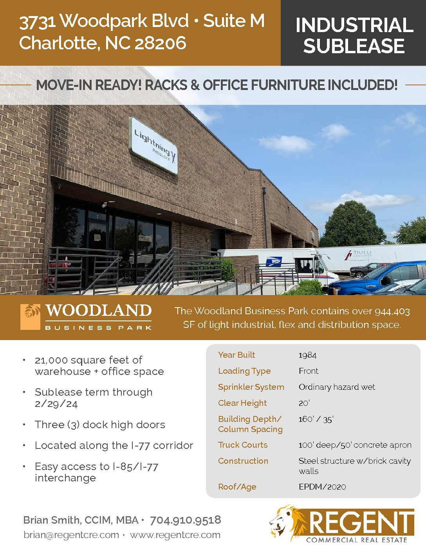 3731 Woodpark Blvd • Suite M Charlotte, NC 28206