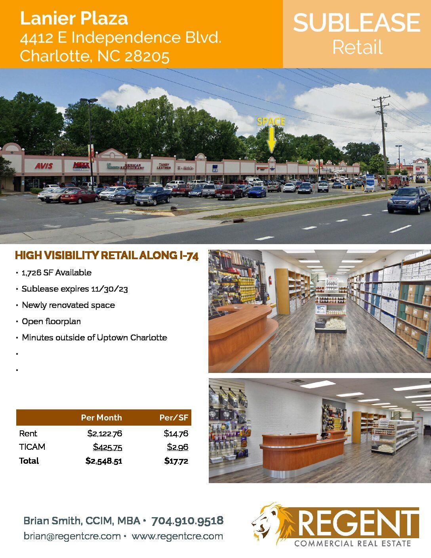 Lanier Plaza 4412 E Independence Blvd. Charlotte, NC 28205